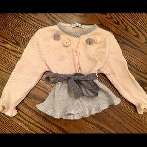 French Designer wool & cashmere girls Cardigan wi…